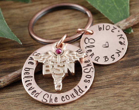 Personalized BSN Graduation Gift, RN Keychain, Graduation Gift for Nurse, Nurse Keychain, Nurse Graduation, Gift for Nursing Student