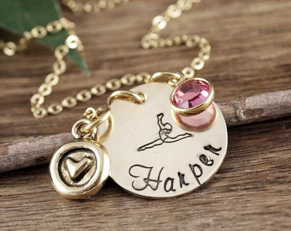 Personalized Gymnastics Gift, Gymnast Necklace, Gymnastic Necklace, Jewelry For Gymnast, Gymnast Gift, Gift for Gymnast, Gymnastic Charm
