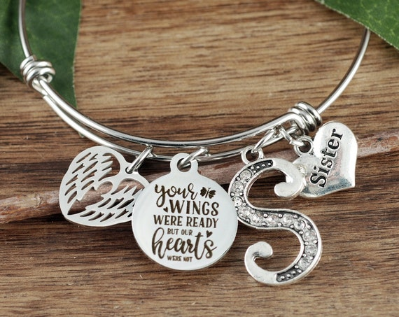 Sympathy Gift, Your wings were ready Our hearts were not, Memorial Gift, In Memory Of,  Loss of Sister, Loss of Loved One, Sympathy Jewelry