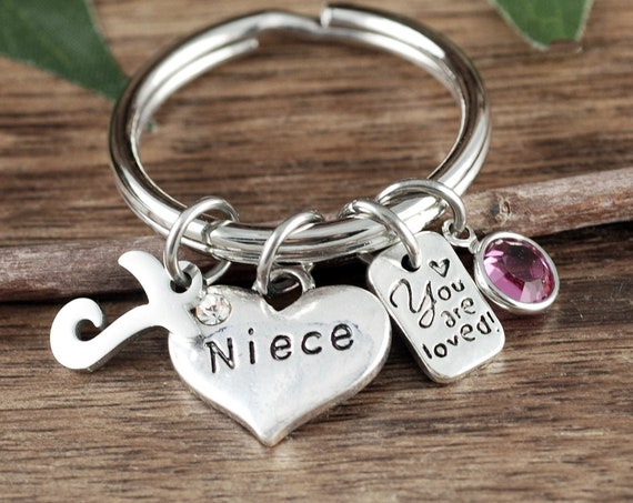 Personalized Niece Gift, Gift for Niece, Gift for Niece, Niece Jewelry, Keychain for Niece, To niece from Aunt, Niece Jewelry, Niece Gift