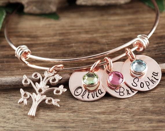Personalized Grandma Bracelet, Family Tree Bracelet, GrandMother's Bracelet, Mother's Day Gift, Bracelet with GrandKids Names