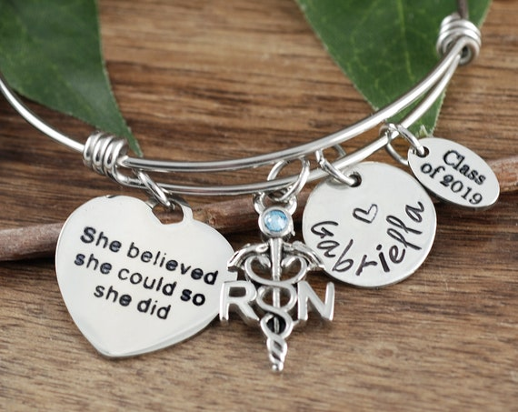 2019 Graduation Gift for Nurse, BSN Gift, She believed she Could so she Did, Nurse Graduation, Gift for Nurse Graduate, Nursing Student