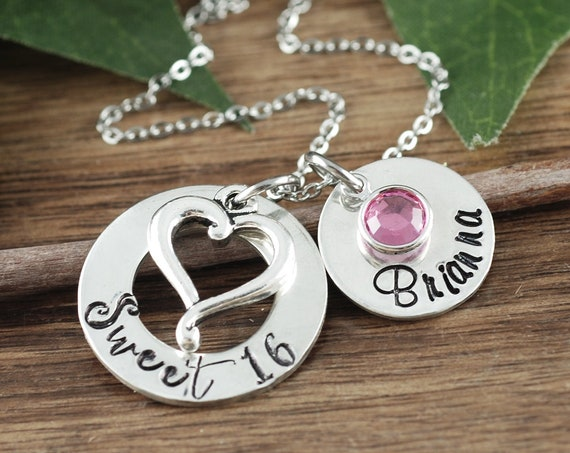 Sweet 16 Necklace, Sweet 16 Gift, Gift for Teenager, 16th Birthday, Personalized Sweet 16 Jewelry, Gift for Teenager, 16th Birthday Gift