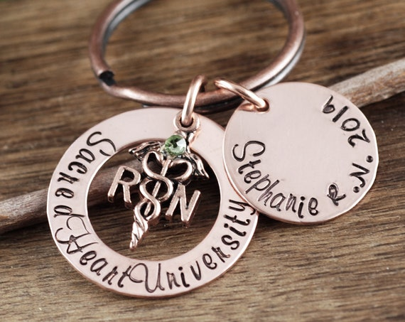RN Graduation Gift, RN Keychain, Graduation Gift for Nurse, Nurse Keychain, Gift for Nurse, Nurse Graduation, Gift for Nursing Student