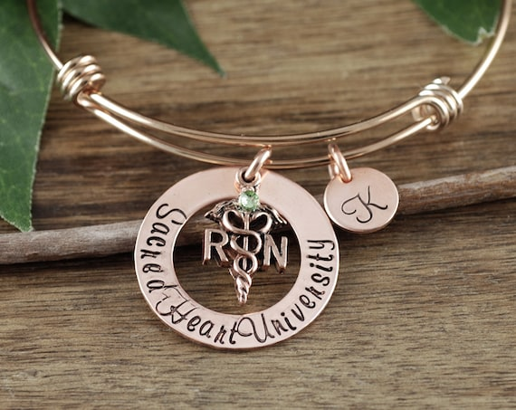 Personalized Gift for Nurse, RN Graduation Gift, Graduation Gift for Nurse, Nurse Bracelet, Nurse Graduation, Gift for Nurse Graduate