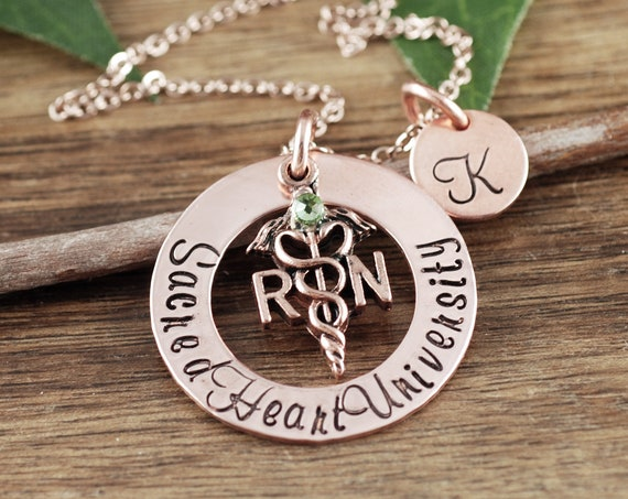 College University Gift, Graduation Gift for Nurse, Nurse Necklace, RN Graduation Gift, Personalized Gift for Nurse, Nurse Graduation