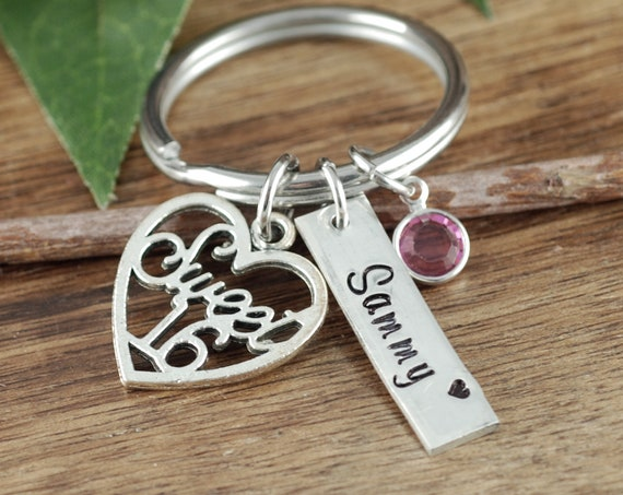 Personalized Sweet 16 Keychain, Sweet Sixteen Gift, Sweet 16 Gift, Sweet 16th Birthday Gifts, Sweet 16 Key Chain, Gift for Teenager