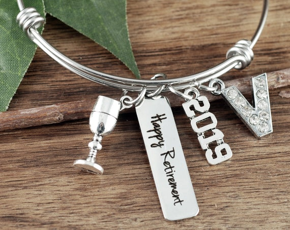 Personalized Retirement Gift, Retirement Gift, Retirement Bracelet, Retirement Accessory, Happy Retirement Gift, Retirement Gift Ideas