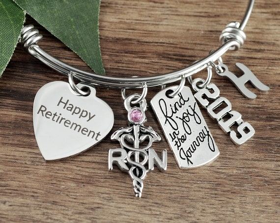 Personalized Retirement Gift, Happy Retirement Gift for her, Retirement Gift, Retirement Jewelry, Retirement Gift, Find joy in the Journey