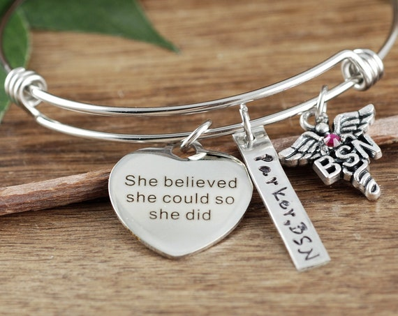 Graduation Gift for Nurse, BSN Gift, She believed she Could so she Did, Nurse Graduation, Gift for Nurse Graduate, Nursing Student