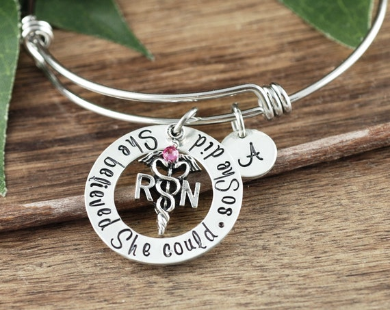RN Graduation Gift, Graduation Gift for Nurse, Nurse Bracelet, Personalized Gift for Nurse, Nurse Graduation, Gift for Nurse Graduate
