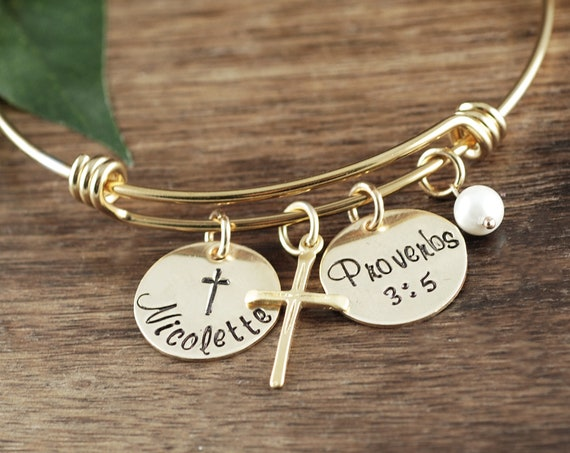 Confirmation Bracelet, Faith Bracelet, Confirmation Jewelry, Cross Bracelet, Communion Gift, Gift for Her, Confirmation Gift, Religious Gift