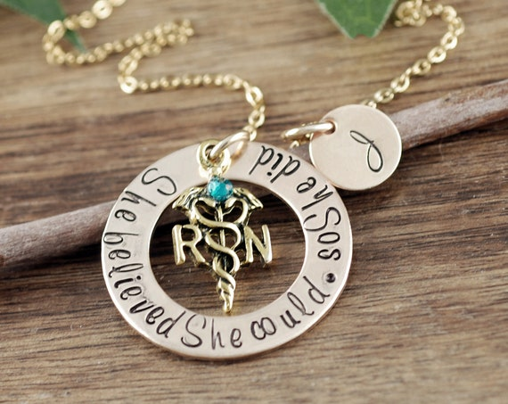 Graduation Gift for Nurse, Nurse Necklace, RN Graduation Gift, Personalized Gift for Nurse, Nurse Graduation, Gift for Nurse