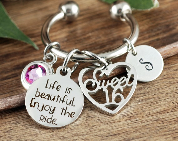 Life Is Beautiful Enjoy The Ride, Sweet 16 for Teen Girl, 16 year old Gift, Sweet 16 Gift for Her, Birthday Gift for Daughter