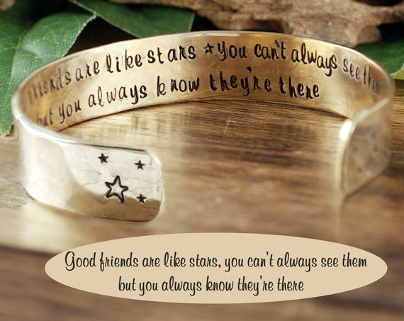 Best Friends Gift, Friendship Bracelet, Bridesmaid Gift, Gift for a Friend, Good friends are like stars, Friend Gift, Birthday Friend