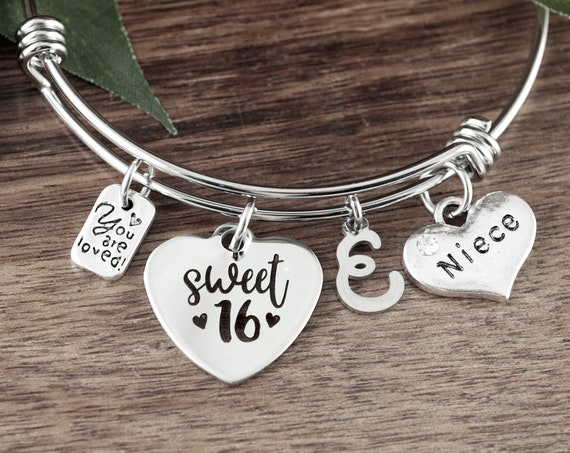 Sweet Sixteen Gift for Niece, Niece gift from Aunt, Sweet 16 Bracelet, Sweet 16 Gift, Sweet 16th Birthday Gifts, Sweet 16 Jewelry