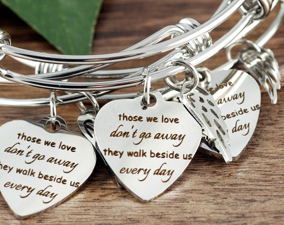 Personalized Memorial Bracelet for Women, Memorial Gift, Sympathy Gift, In Memory Of,  Loss of Dad, Loss of Parent, Sympathy Gift