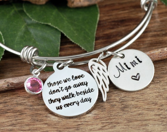 Personalized Memorial Gift, Memorial Bracelet for Women, Sympathy Gift, In Memory Of,  Loss of Grandparent, Loss of Parent, Sympathy Gift