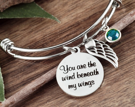 Personalized Memorial Gift, You are the wind beneath my wings, Sympathy Gift, In Memory Of,  Loss of Dad, Loss of Parent, Sympathy Gift