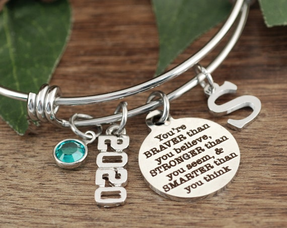 Graduation Gift for Daughter, You are Braver than you Believe, Stronger than you Seem, Smarter than you Think . Gift for Granddaughter