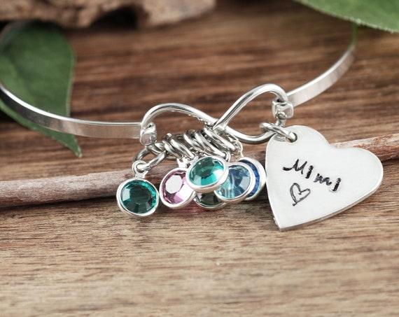 Bracelet for Grandma, Grandma Bracelet, Grandmother Bracelet, Infinity Jewelry, Birthstone Bracelet, Mother's Bracelet, Mother's Day Gift