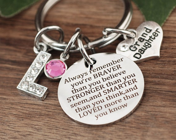 You Are Braver Than You Believe Stronger Than You Seem and Smarter Thank You Think, Motivational Keychain, Winnie The Pooh Quote