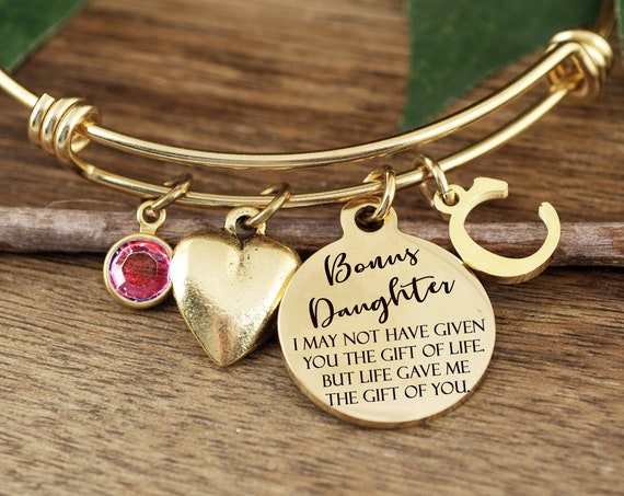 Step Daughter Gift, Engraved Jewelry, Step Daughter Bracelet, Adoption Gift, Personalized gift, I Chose You, chosen, Blended Family