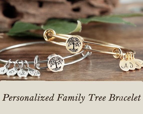 Personalized Grandma Bracelet, Tree of Life for Grandma, Grandmother Gift, Bracelet for Grandma, Family Tree Gift, from Grandchildren