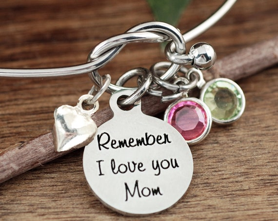 Birthday Gift for Mom, Remember I Love You Mom, Mom Bracelet, Mother's Bracelet, Gift for Her, I love you Mom Gift, Gift from Daughter
