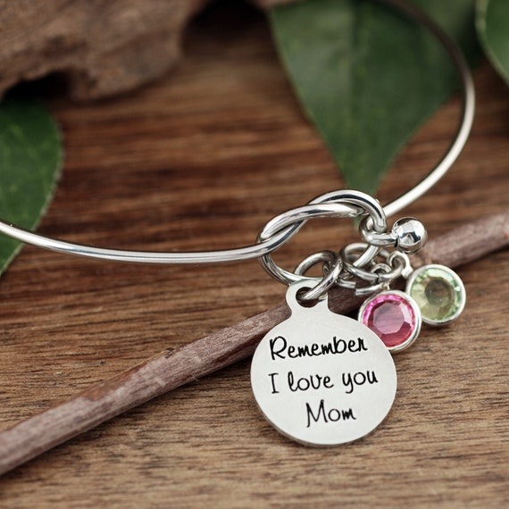 Remember I Love You Mom, Mom Bracelet, Mother's Bracelet, Birthday Gift for Mom, Gift for Her, I love you Mom Gift, Gift from Daughter