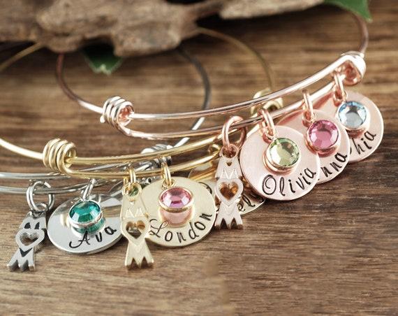 Personalized Mom Bracelet, Gift for Mom, Mother's Bracelet, Mom Bracelet, Mother's Day Gift, Custom Name Bracelet, Bracelet with Kids Names