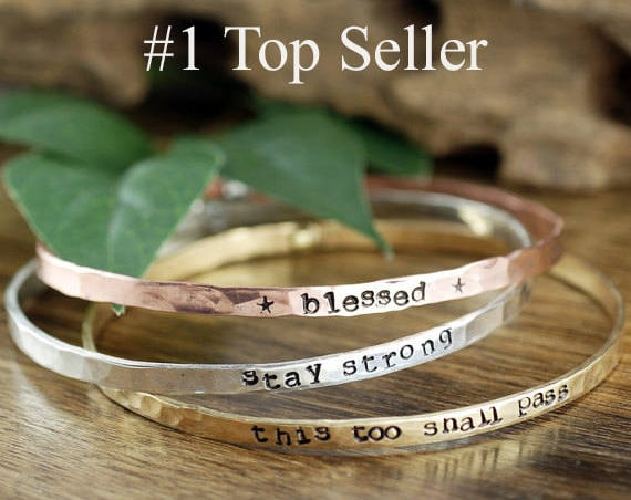Inspirational Gift, Custom Quote Bracelet, Motivational Bangle Bracelet, Personalized Bracelets, Inspirational bracelet, Quote Jewelry