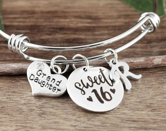 Sweet Sixteen Gift for Granddaughter, Granddaughter gift, Gift from Grandma, Sweet 16 Bracelet, Sweet 16 Gift, Sweet 16 Birthday Gift
