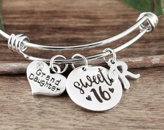 Sweet Sixteen Gift for Granddaughter, Granddaughter gift, Gift from Grandma, Sweet 16 Bracelet, Sweet 16 Gift, Sweet 16 Birthday Gift