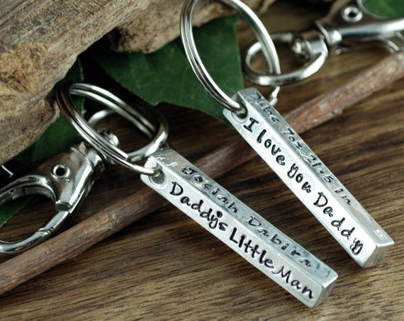 Keychain for Dad, Gift for Dad, Personalized Key Chain for Dad, Dad Keychain, Fathers Day Gift, Birthday gift for Dad, Gift for Grandpa
