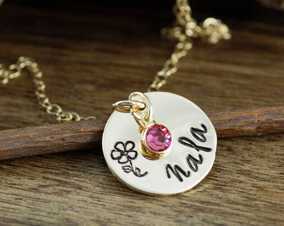 Personalized Necklace for Girls, Girls Name Jewelry, Mommy Necklace, Mothers Necklace,Christmas Gift for Girl, Hand Stamped Girls Necklace