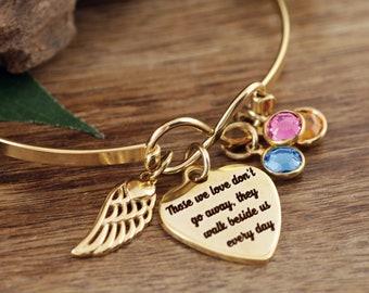 Memorial Bracelet for Women, Personalized Memorial Gift, Sympathy Gift, In Memory Of,  Loss of Grandparent, Loss of Parent, Sympathy Gift