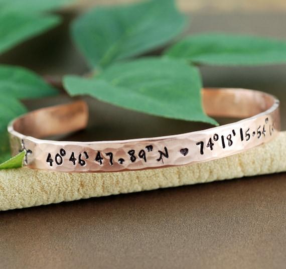Coordinate Cuff Bracelet, Personalized Engraved Bracelets, Longitude Latitude Jewelry, Custom Coordinates, Location Bracelet, Cuff Bracelets