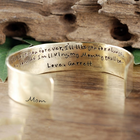 Mother of the Bride Bracelet, I'll Love you forever I'll Like you for Always, Secret Message Bracelet, Mothers Day Gift, Gift for Mom