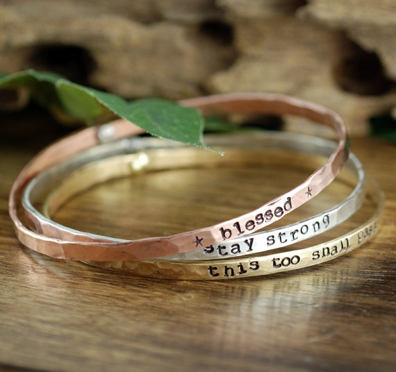Set of all 3, Inspirational Gift, Quote Bracelet, Motivational Bangle Bracelet,Personalized Bracelets, Inspirational bracelet, Quote Jewelry