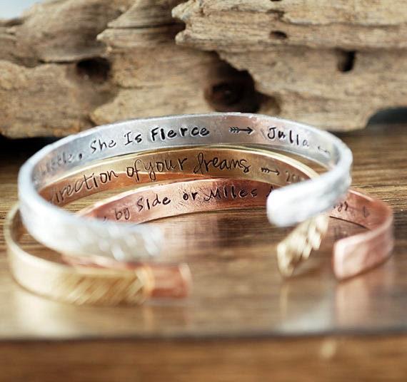 Graduation Jewelry, Design your own Cuff Bracelet, Custom Cuff Bracelet, Custom Secret Message Bracelet, Personalized Cuff, Quote Bracelet