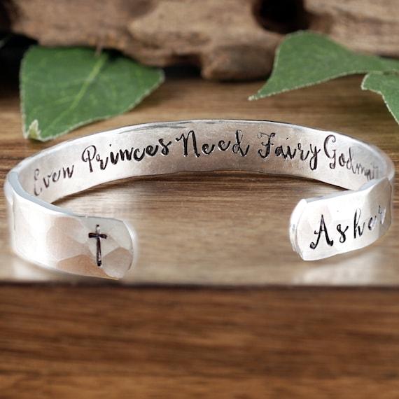 Godmother Bracelet, Personalized Godmother Gift, Godmother Jewelry, Baptism Gift, Christening Gift for Godmother, Fairy Godmother Bracelet