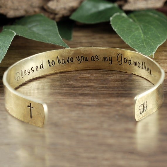 Personalized Godmother Bracelet, Godmother Gift, Godmother Jewelry, Baptism Gift, Christening Gift for Godmother, Fairy Godmother Bracelet