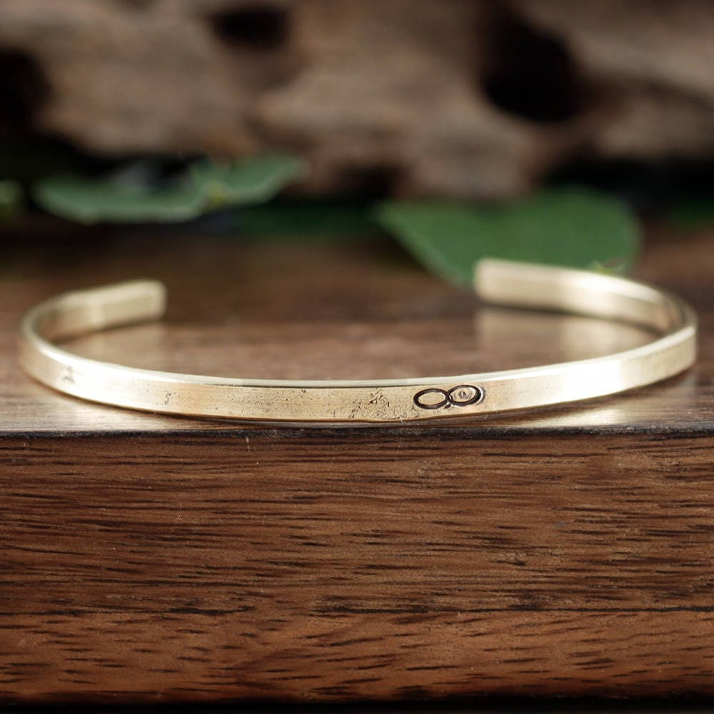 Gold Infinity Bracelet Skinny Cuffs Cuff Bracelet Inspirational