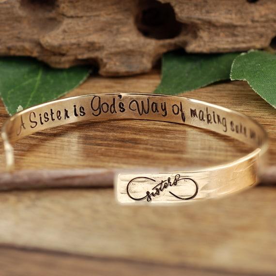 Sister Gift, Sister Bracelet, Jewelry For Sister, Sister Jewelry, Sister Gift Ideas, Secret Message Jewelry, Cuff Bracelet for Women