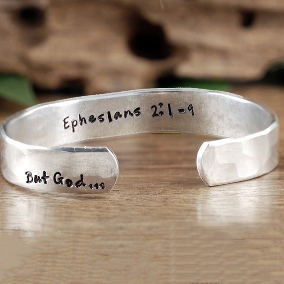 But God... Faith Bracelet, Believer Gift, Inspirational Cuff, Bible Verse Bracelet, Positive Bracelet, Gift for Her, Mother's Day GIft