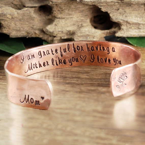 Custom Mother's Cuff Bracelet, Personalized Mom Bracelet, Secret Message Bracelet, Mothers Day Gift, Gift for Mom, Mother of the Bride Gift
