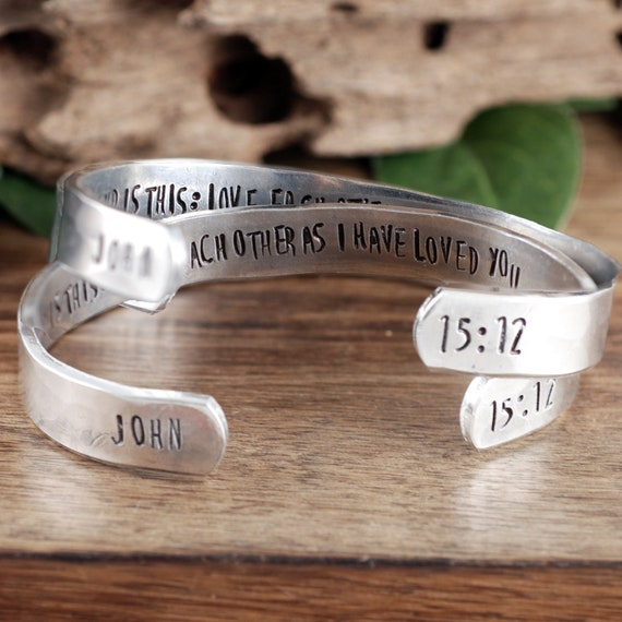 My Command is this, Bible Verse Bracelet, JOHN 1512, Scripture Bracelet, Scripture Jewelry, Religious Bracelets, Christian Jewelry