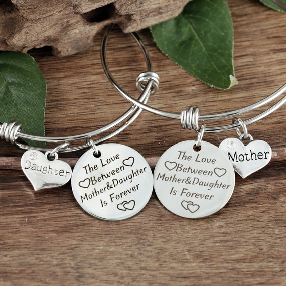 Mother Daughter Bracelet Set, Personalized Mom Bracelet, Mom Gift, Daughter Gift, Gift for Mom, Mother's Day Gift, Gift for Daughter