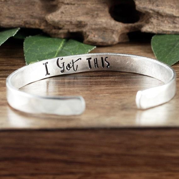 I got This Bracelet, Inspirational Cuff Bracelet, Secret Message Bracelets, Personalized Cuff, Quote Bracelet, Quote Jewelry, Friend Gift